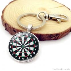 Schlüssel Anhänger - Dartboard! 2 Farben